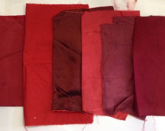 6 cut of lining or cotton in shades of Burgundy (n5)