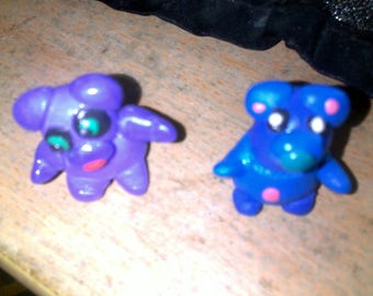 Animal family for pencils or pendant - 2 to choose