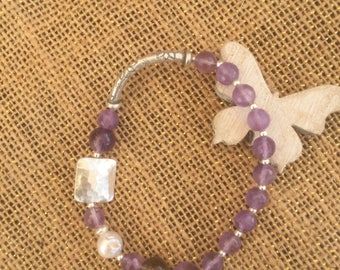 Bracelet Amethyst purple code 005a