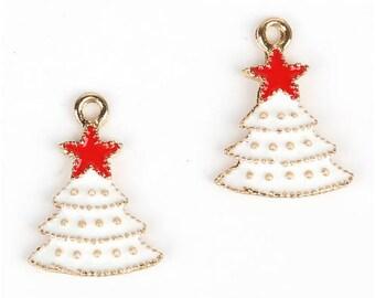 Set of 5 Christmas tree charms