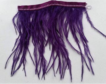 Purple filament of ostrich feather band 8cm