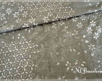 Gray wrinkled cotton fabric