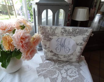 """Large toiletry bag with Monogram """"M"""""""