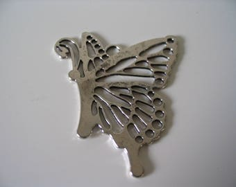 Large Butterfly in antique silver
