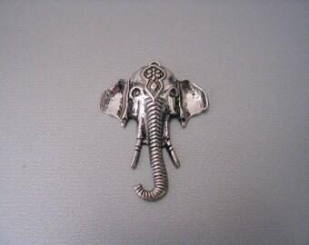 Large silver elephant pendant