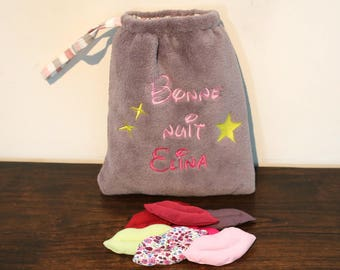 Bag kisses blanket (15 kisses) and customizable embroidered to count down the nights
