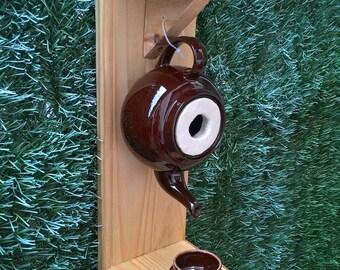 Teapot birdhouse great tit, Sparrow...