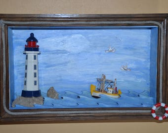 Small decorative window for nursery to hang on wall