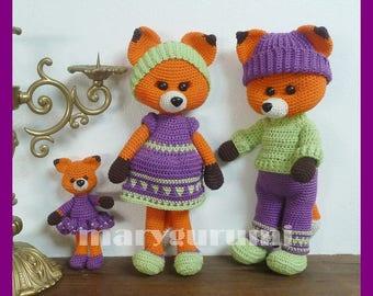 Foxes, crochet, Amigurumi plush