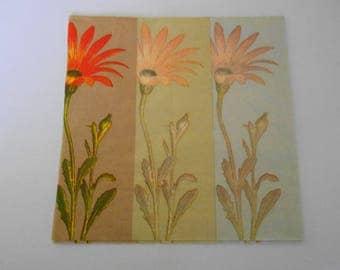 paper napkin with flowers size 33 x 33 cm