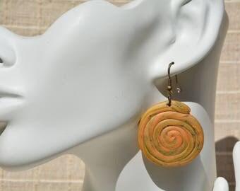 Large fancy polymer clay earrings