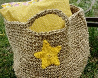 Great basket sisal and its beautiful yellow stars
