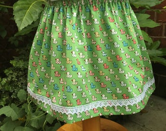 Hand made children's skirt with elasticated waist