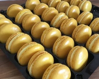Yellow Wedding Favours French Macarons