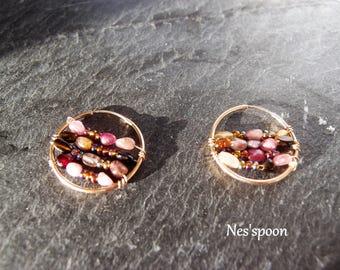 NES'spoon pair of Bohemian earrings