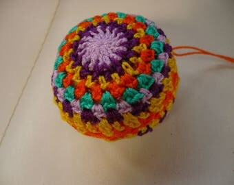 Multicolor crochet cotton ball, ball Christmas or ball decorative for hanging or mobile