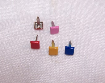 Set of 20 nails in square shape, 7 mm diameter