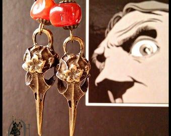 "Earrings long steampunk, dark, creepy ""Freaky"""