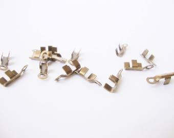 Set of 50 mini-pinces bronze cord 1.9 mm