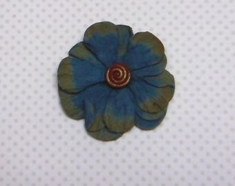 Double blue flower