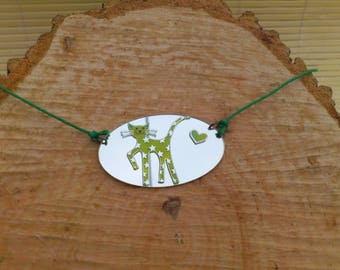 Necklace children funny cat motif