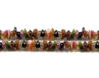 X 25 multicolored tourmaline chips