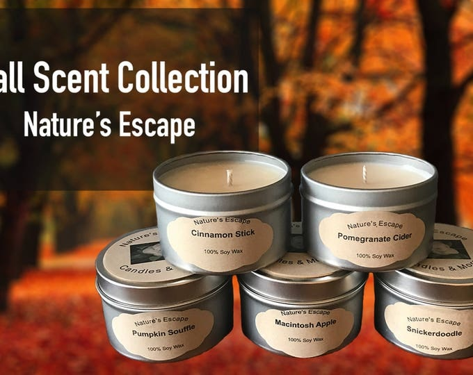 Fall Scented Soy Wax 6 oz. Candle Tins