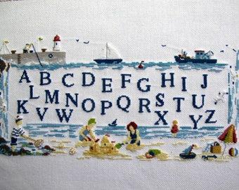 "Primer embroidery ""deco Navy"" cross stitch"
