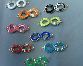 """Connector symbol infinity rings """"color"""" white"""