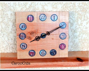 Vintage style wooden clock