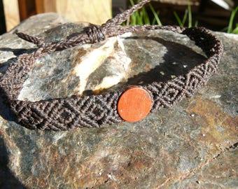 Macrame bracelet with red Jasper