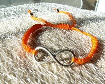 orange infinity Shamballa adjustable