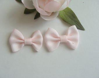 Set of 2 pink bowties 3.5 cm * 2 cm