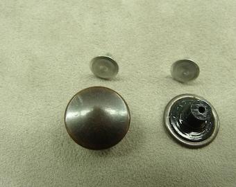 Button denim - 17 mm - copper ages