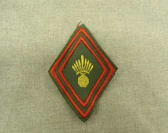 badge military sewing - Khaki, red, yellow