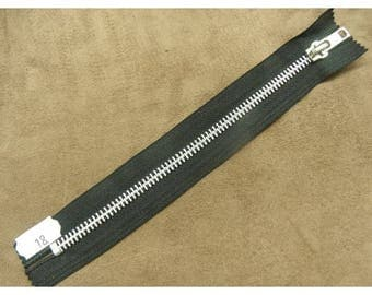 Metal closure - 18 cm - black
