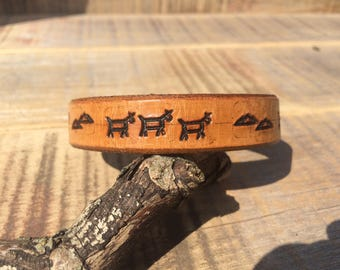 Mountains and War Ponies Stacker Cuff Bracelet
