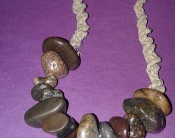 Himilaian riverstone hemp necklace