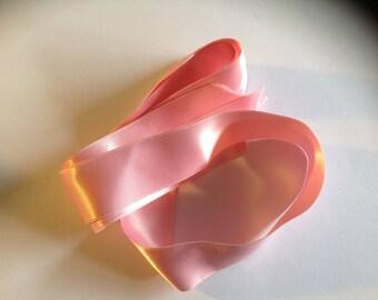 Medium Pink Ribbon polyester 25 mm length 90 cm