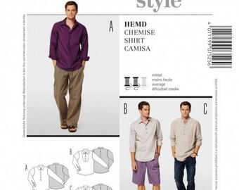 Sewn hand of man's shirt, 7525 Burda pattern