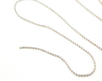 set of 10 m chain silver 1.5 mm ball