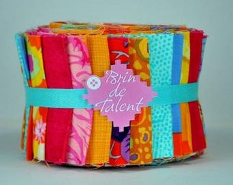 Quilt Roll Sorbet - strips of fabric for quilt - Jelly Roll