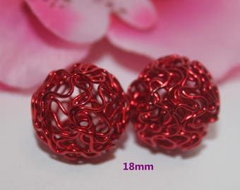 1 Pearl red 18mm - SC51013 - round wire