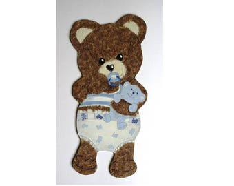 "Honey Bear ""Baby"" wood and paper"