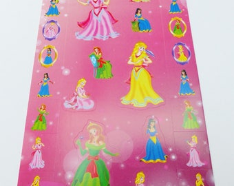 31 princesses dresses frame mirror decal stickers
