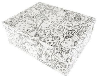 box coloring animal theme