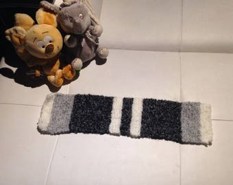 Entirely hand knitted baby scarf