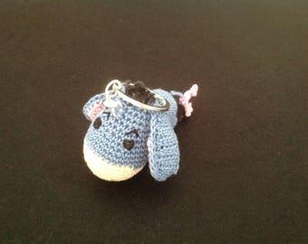 Eeyore crochet keyring