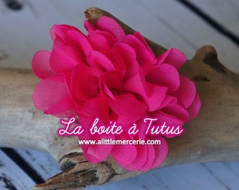 ★ Flower Applique fabric Lily chiffon strapless headband diy belt ★ Fuchsia pink