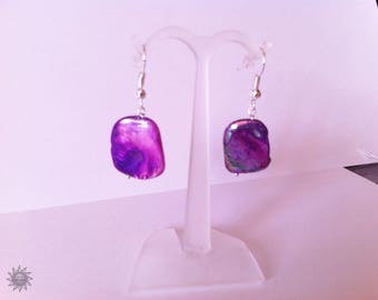 set with mother of pearl purple